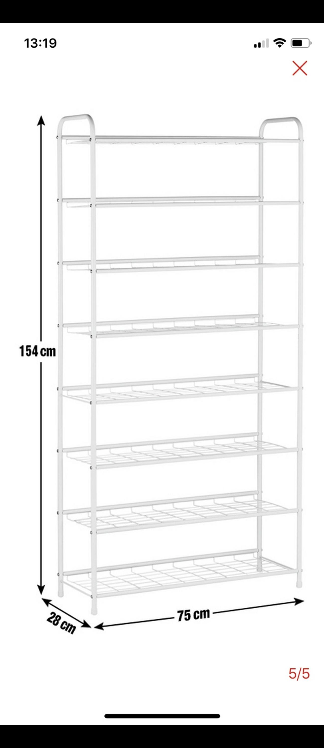 Argos Home 8 Tier White Shoe Rack New In W2 Westminster For 23 90 For Sale Shpock