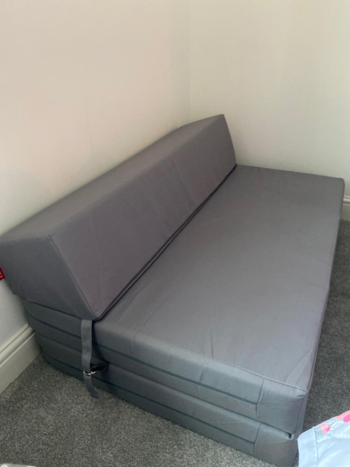 Sofa bed chair from Argos grey small double in ME4 Malling for
