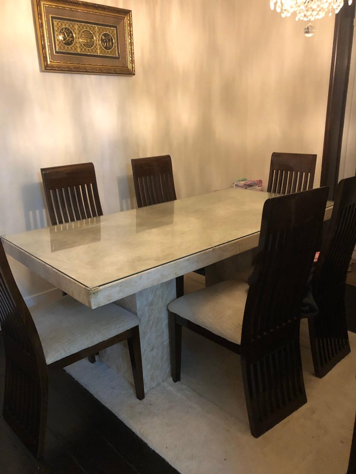 Solid Marble Dining Table 6 Chairs In Rg30 Reading For 700 00 For Sale Shpock