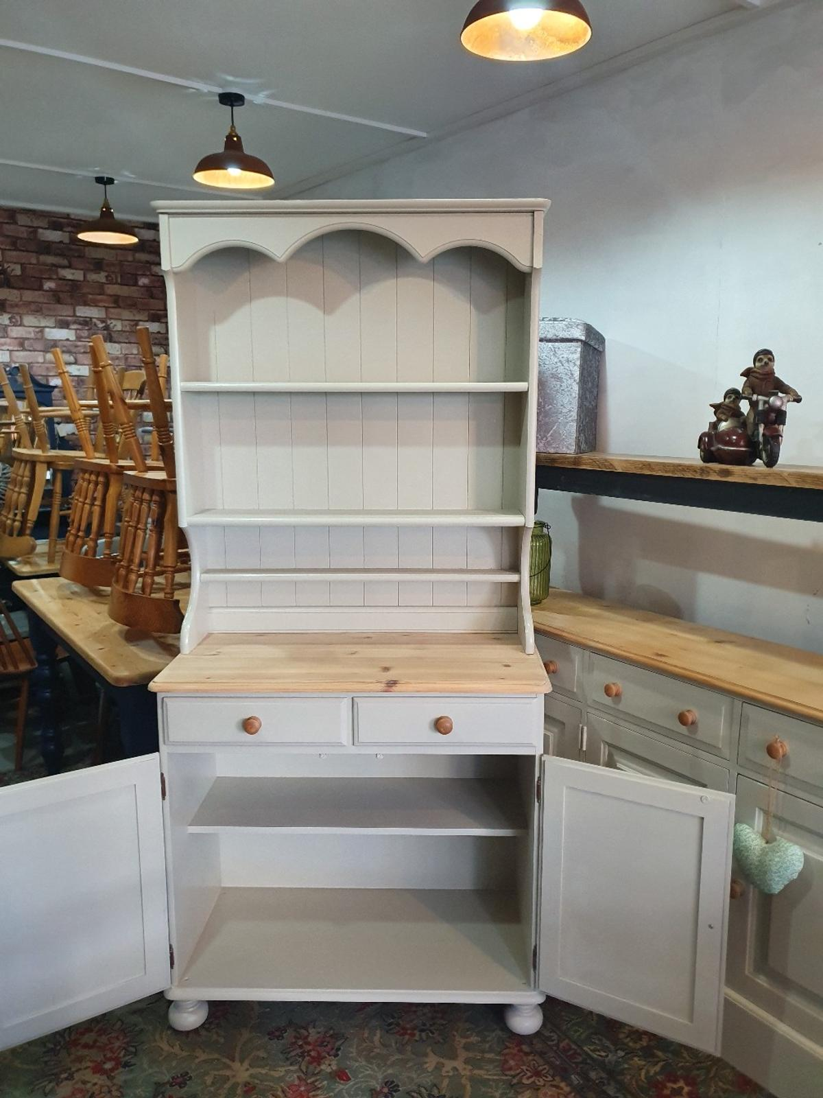 Solid Pine Farmhouse Kitchen Dresser In