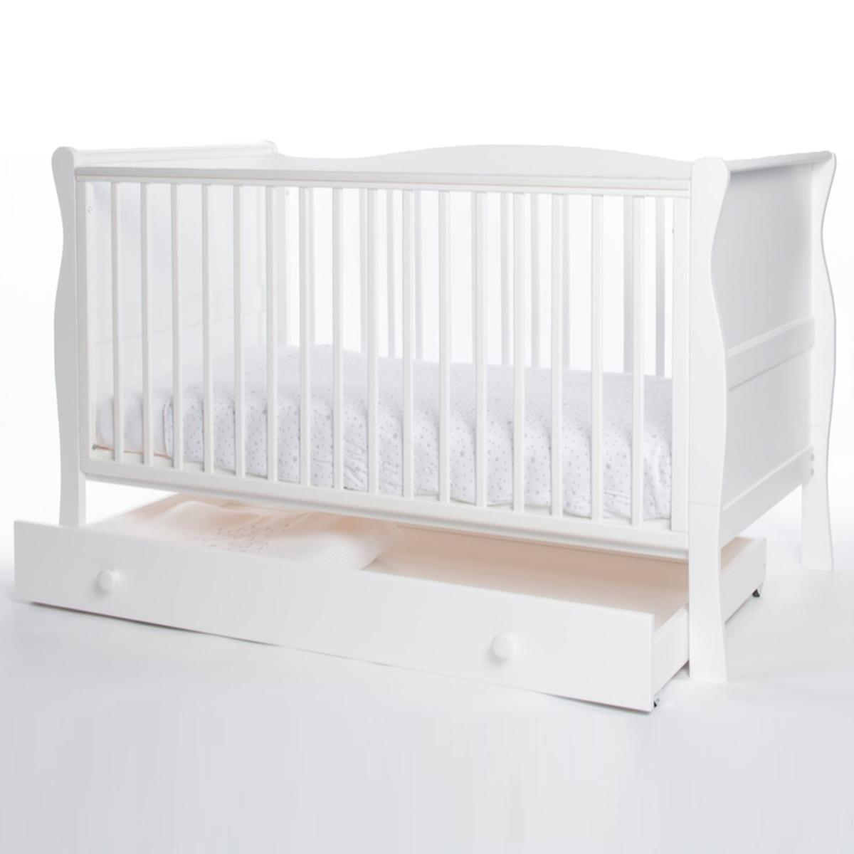 - Little Acorns Classic Sleigh Cot Bed White In Hinckley And