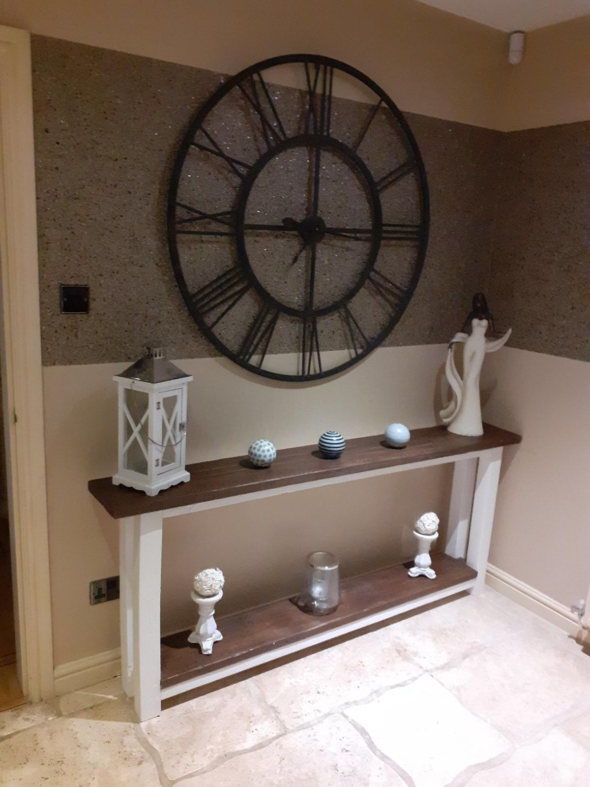 Large clock 114cm diameter  side table on separate listing