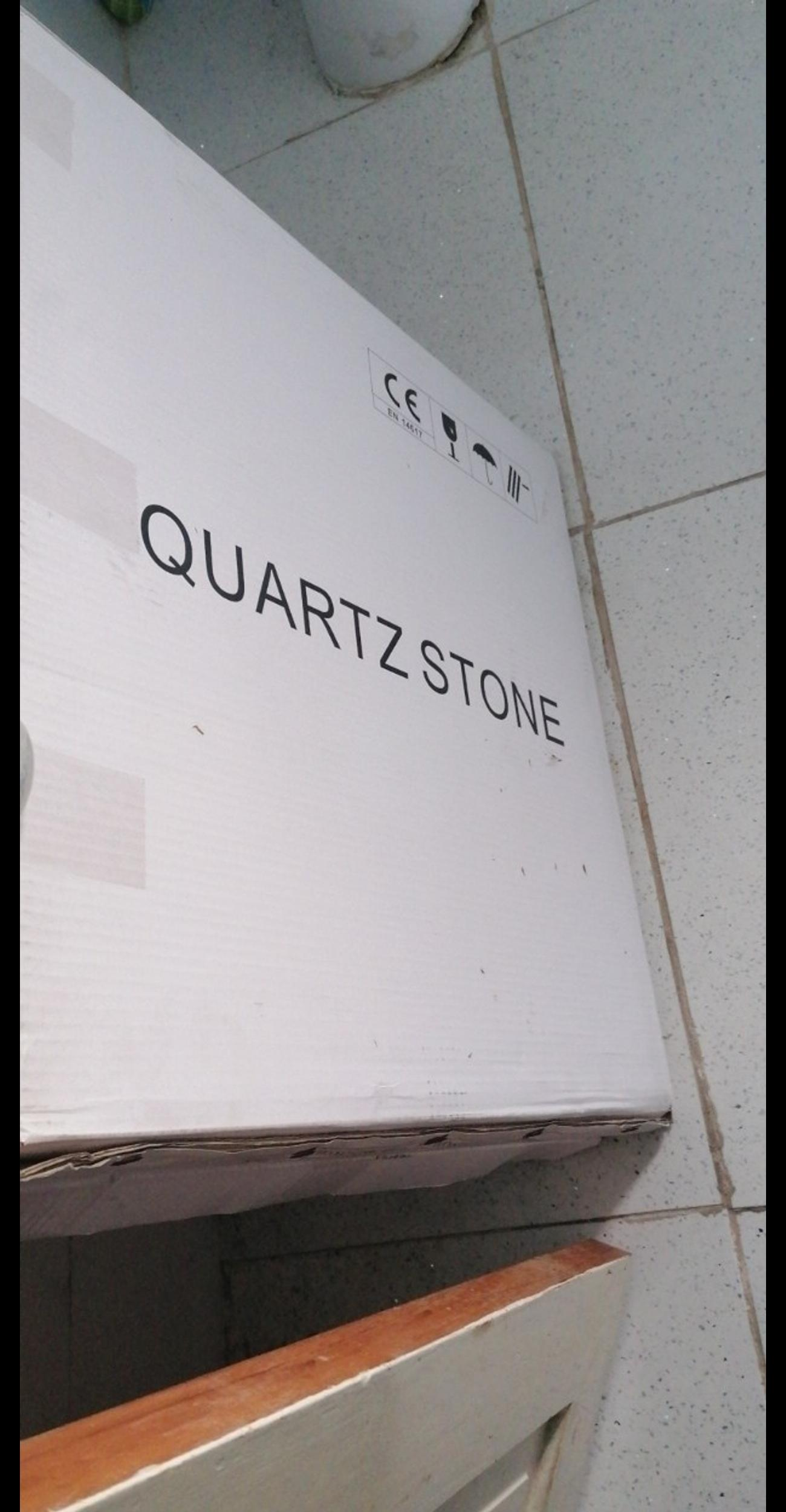 4 large tiles quartz tiles measurements on pic retails at 22 a tile wud do a small space or use them on worktops etc xx