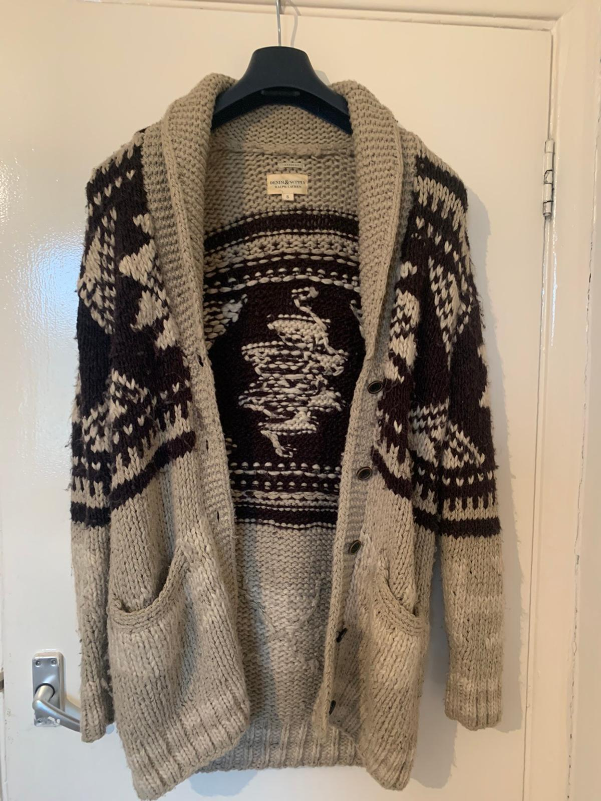 Denim & Supply Aztec cardigan in a size small but more like a medium or large. 100% wool in good condition. #Ralph Lauren#