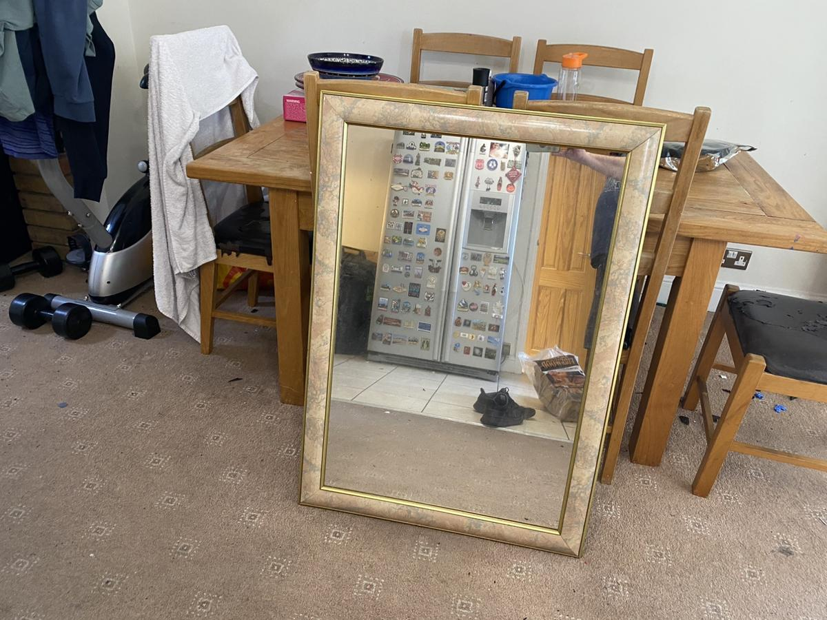 Large mirror in very good condition.  Collection only from Collier Row in Romford RM5 postcode