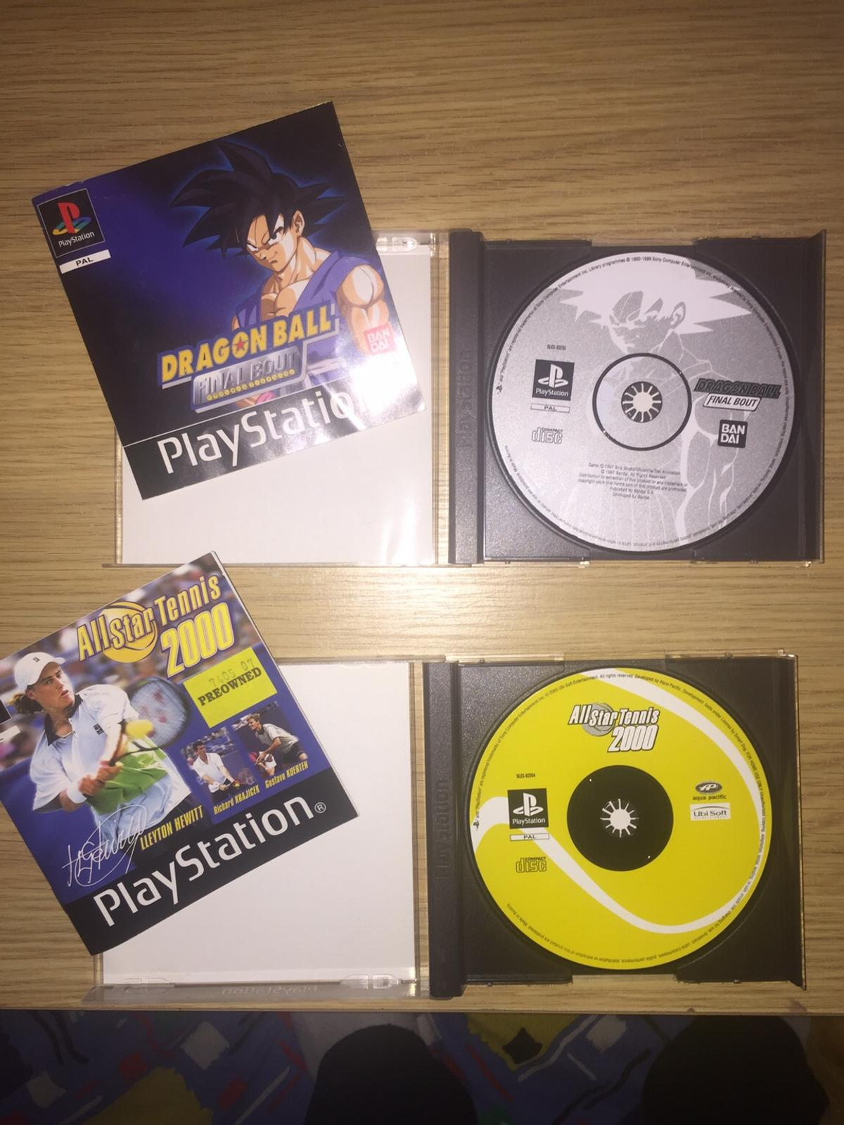 Selling DragonBall Final Bout and Allstar Tennis 2000 on Playstation 1.  Excellent condition, comes with original manual and boxes.
