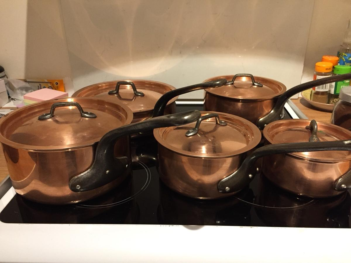 Real copper sauce pans