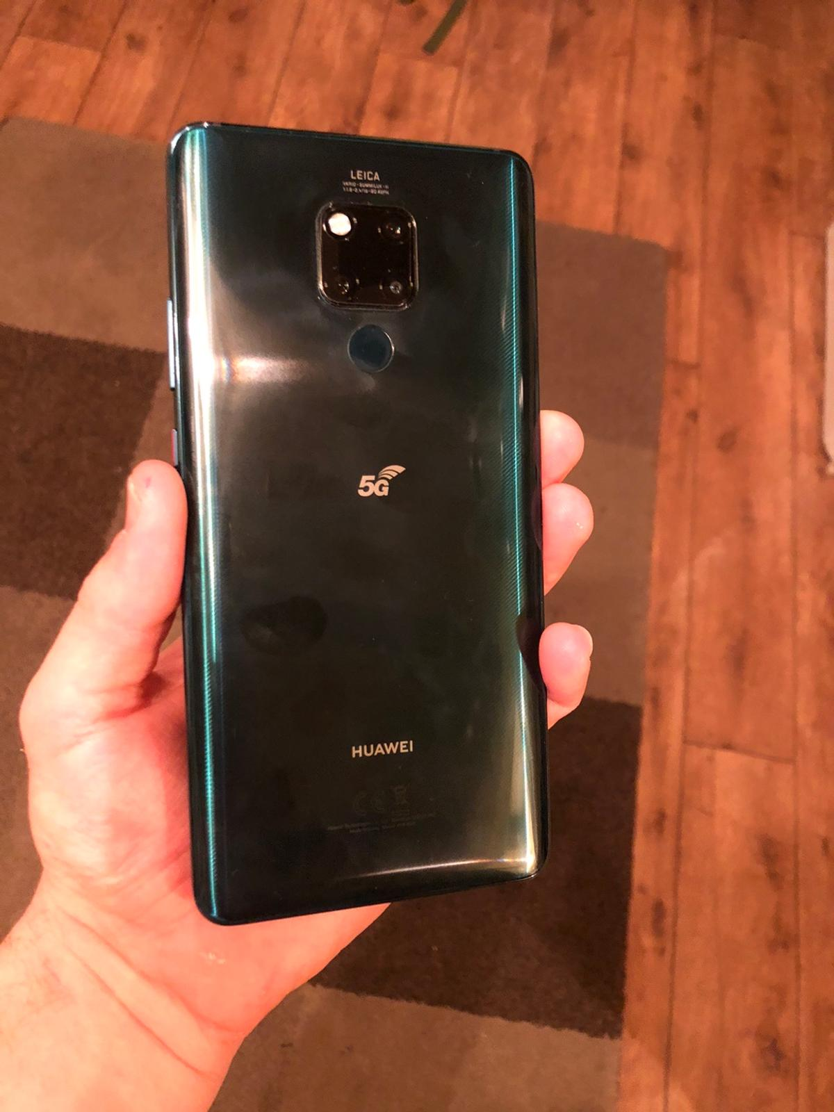 Huawei mate 20 x 5g in emerald green excellent condition with screen protector fitted comes boxed with all accessories and case.  Looking for swaps for other phones or offers Phones must be in excellent condition boxed Thanks.  Samsung oneplus google pixel
