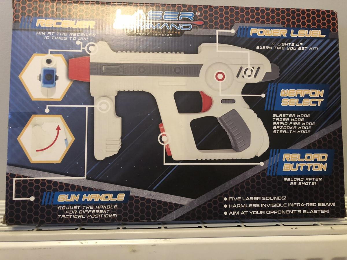 Brand new in box laser command pursuit game 2 player set