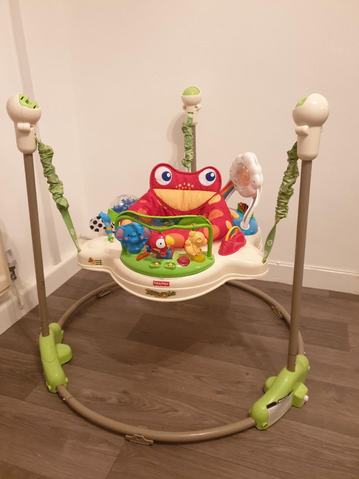 jumperoo great condition missing 2 overhead leaves but does not affect use collection only please :) please see pics