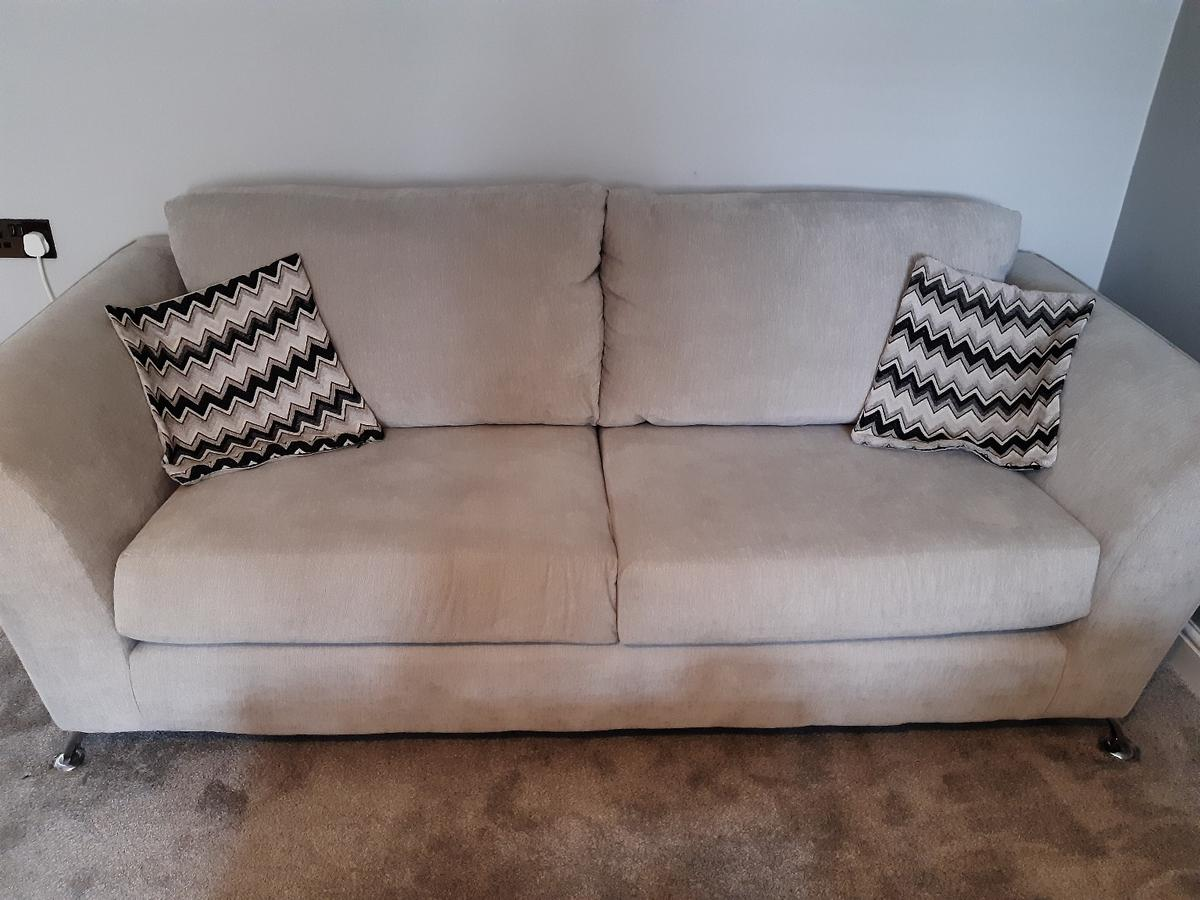 DELIVERY TODAYgrey sofa and cuddle chair in TS17 Ingleby ...