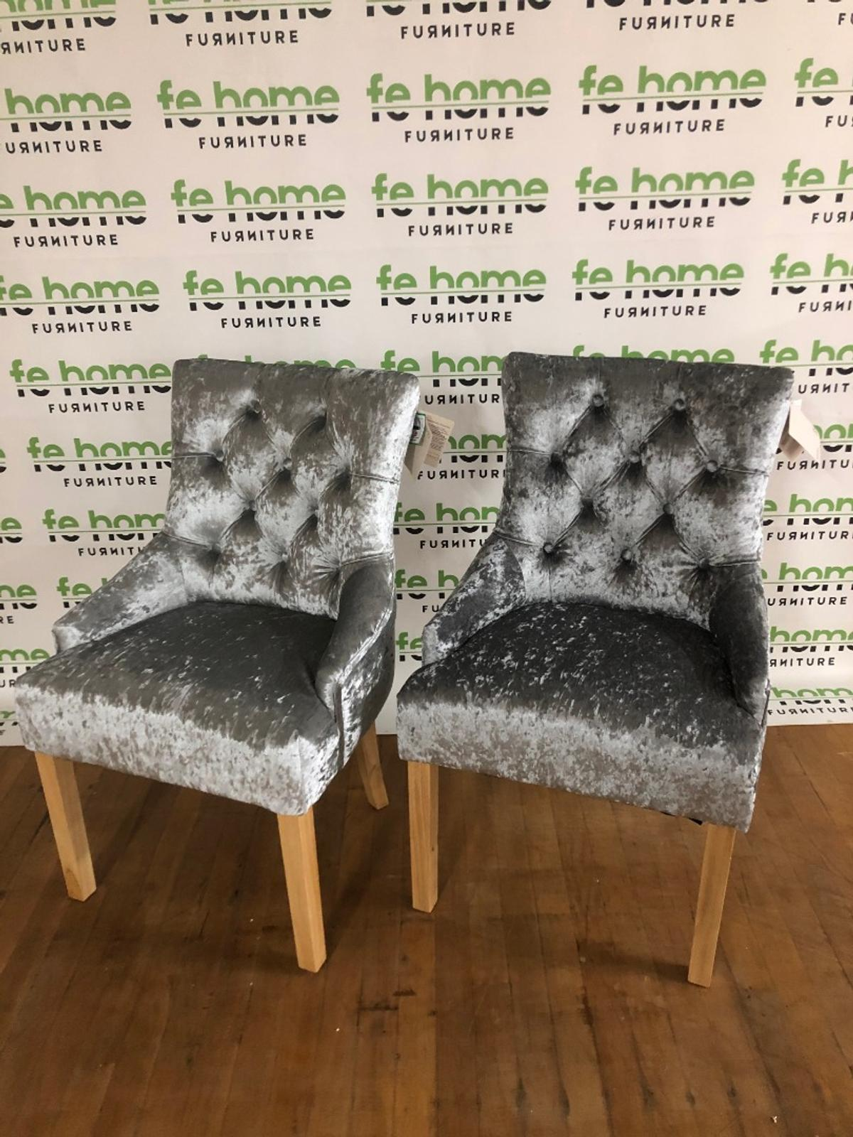 Cherwell Pair Of Velvet Chairs Grey In Le1 Leicester For 150 00 For Sale Shpock