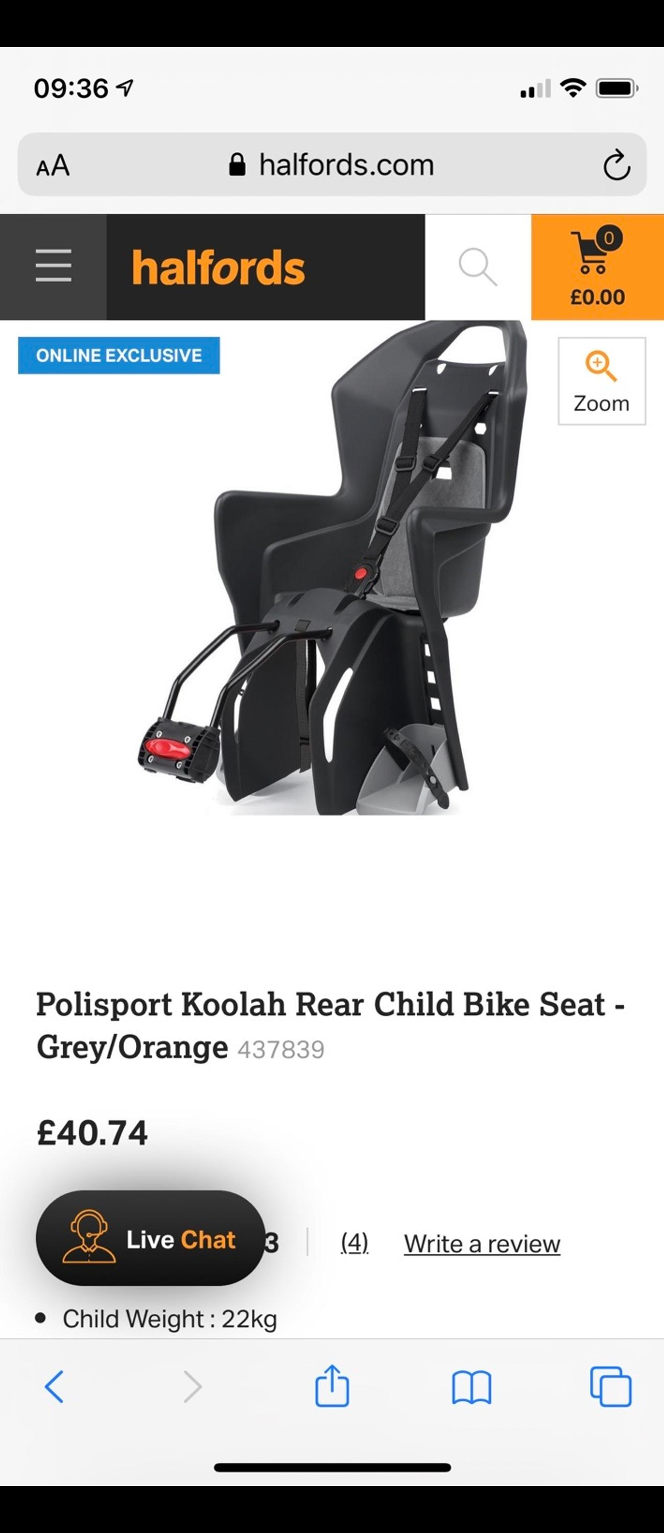 Picture of: Child Bike Seats In Wa1 Warrington For 20 00 For Sale Shpock