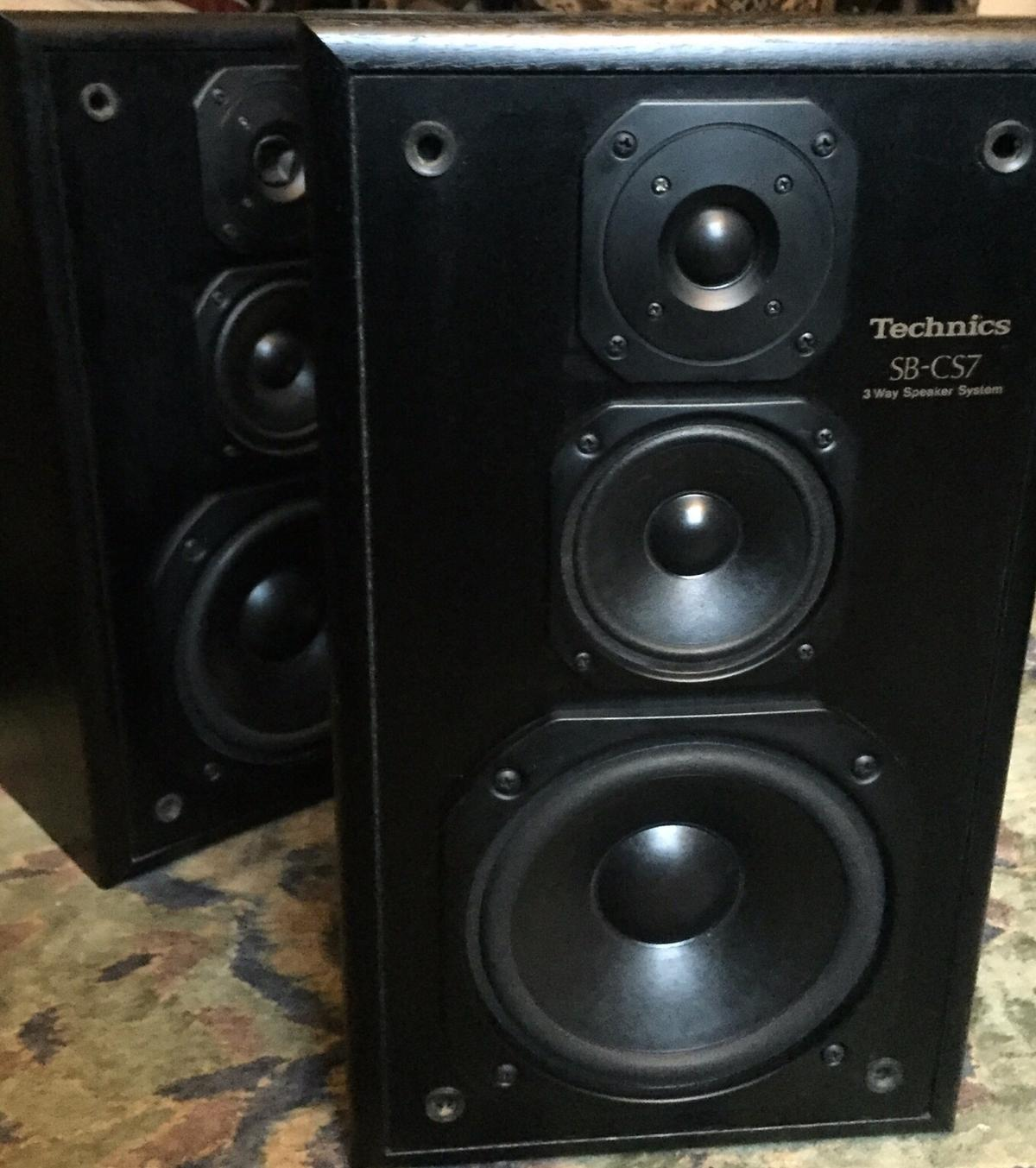 Technics SB C57 Speakers  Good condition and great sounding. In black ash. 3 way speaker system 140watts