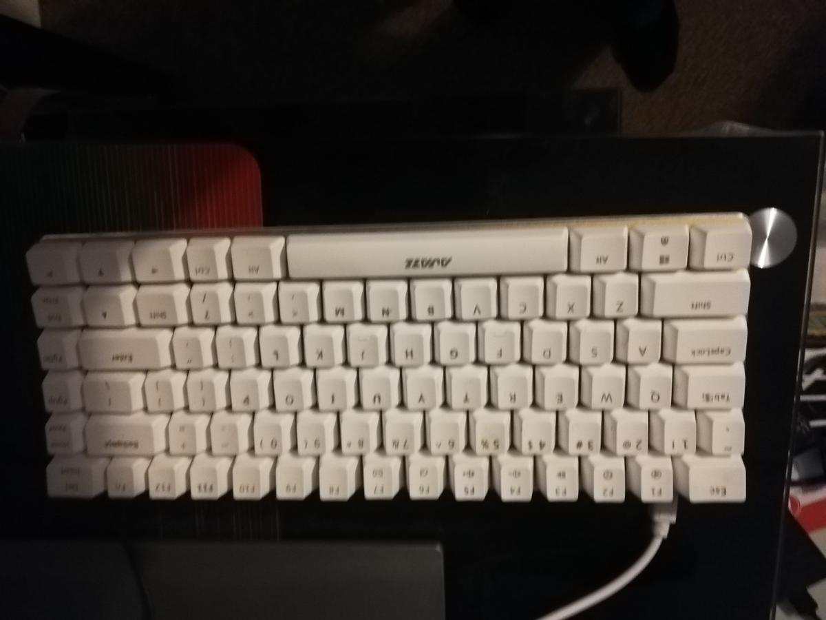 This keyboard it's a 60 percent keyboard and it has Blue switches and the key caps can be easy changed, perfect to play Minecraft , Cs go , fortnite and others games  Collection only or delivery if local