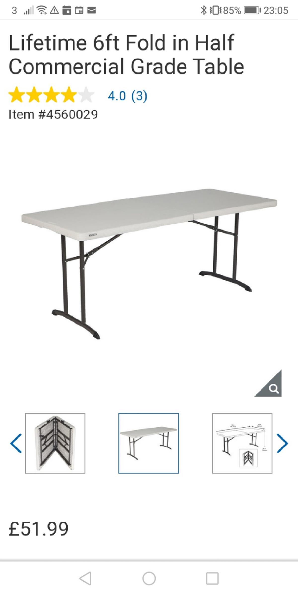 - Lifetime 6ft Commercial Folding Table In London Borough Of Hounslow For  £40.00 For Sale Shpock