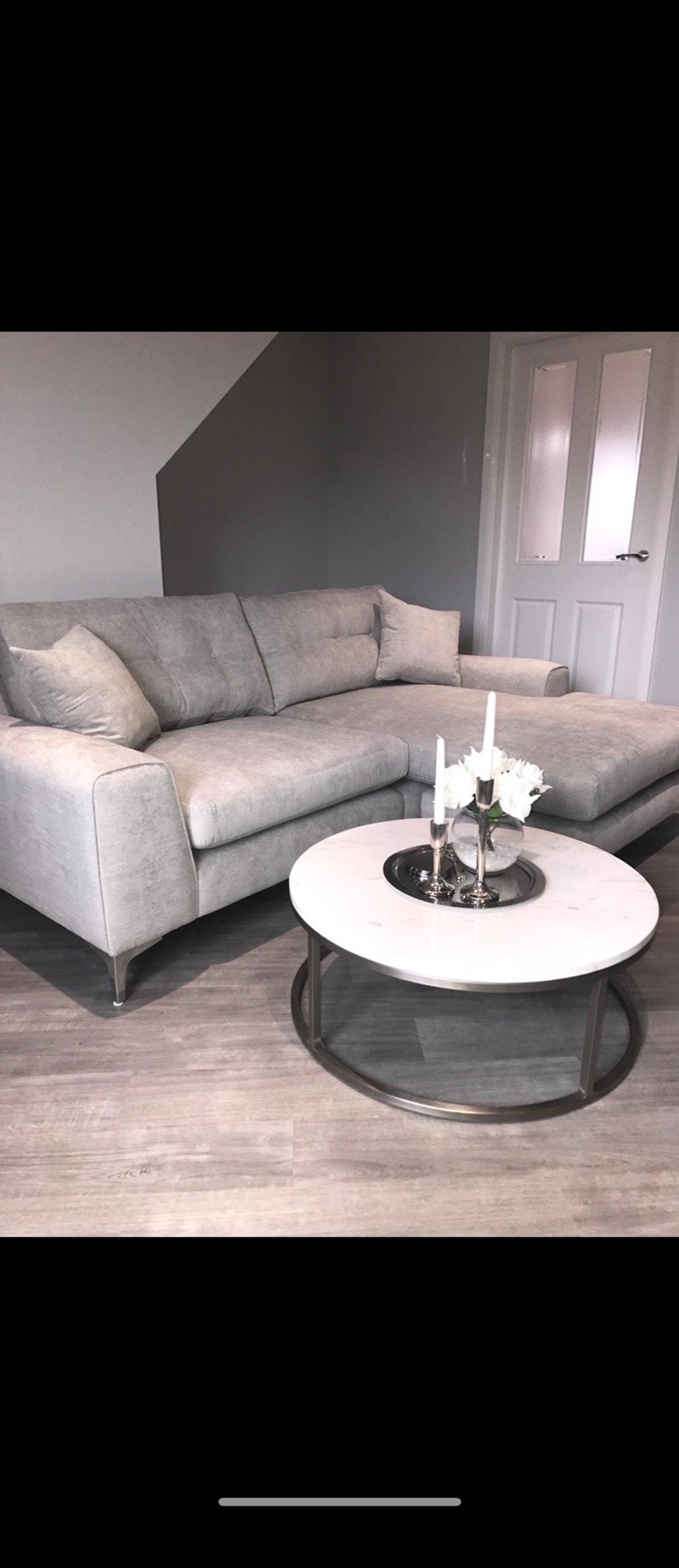 Grey Silver Corner Sofa Demure Sofology In Wn7 Wigan For 500 00 For Sale Shpock
