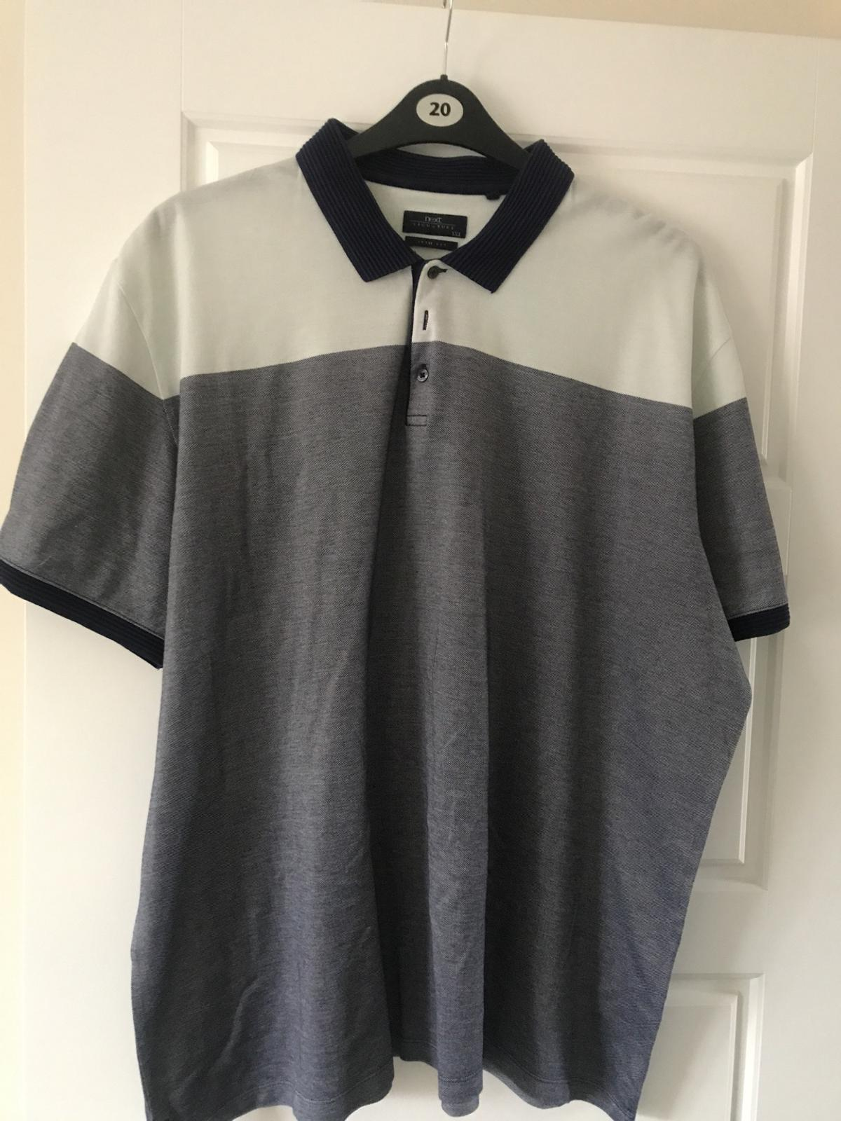 Men's polo T-shirt size xxxl from Next signature range. Slim fit. Worn and washed but in great condition with plenty more wear in it. From a smoke and pet free home. Check out my page for many other listings.