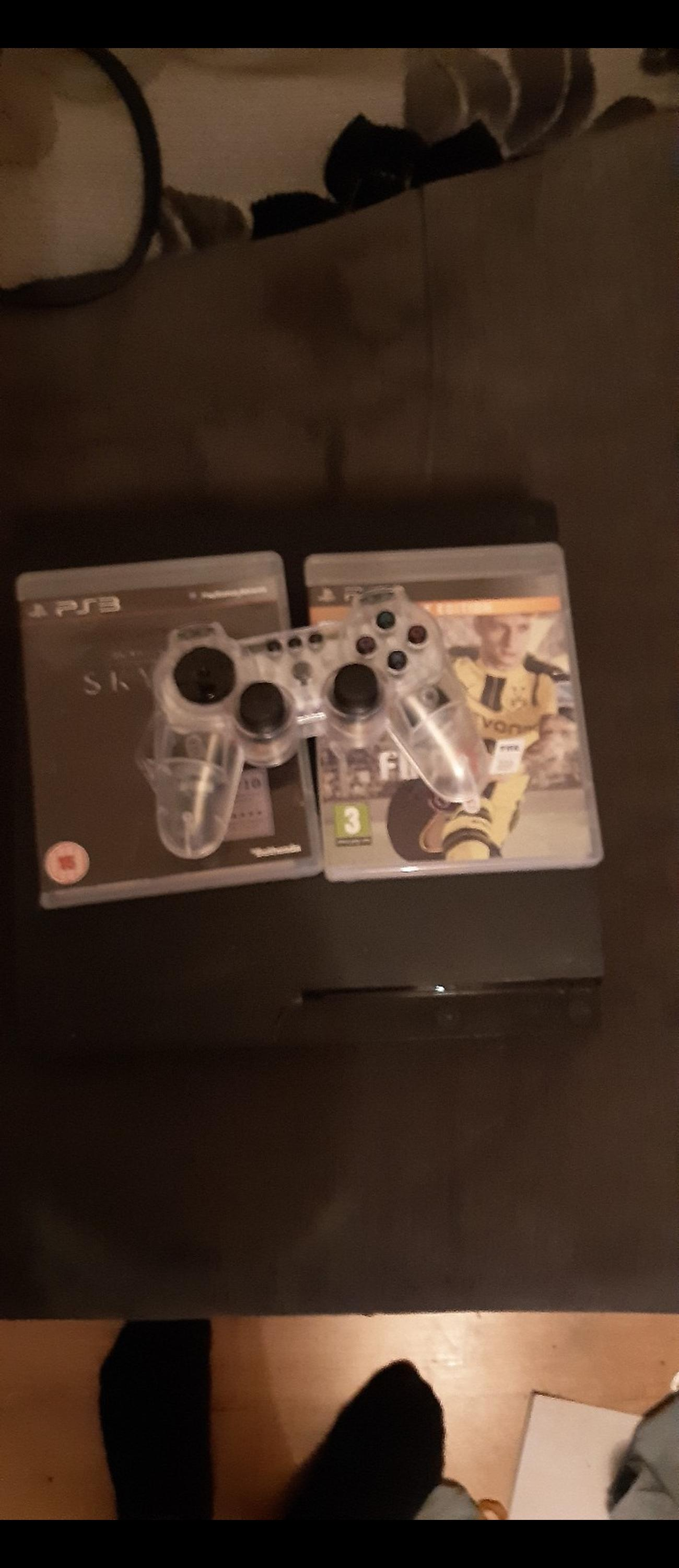 ps3 with control 2 games and power lead fully working