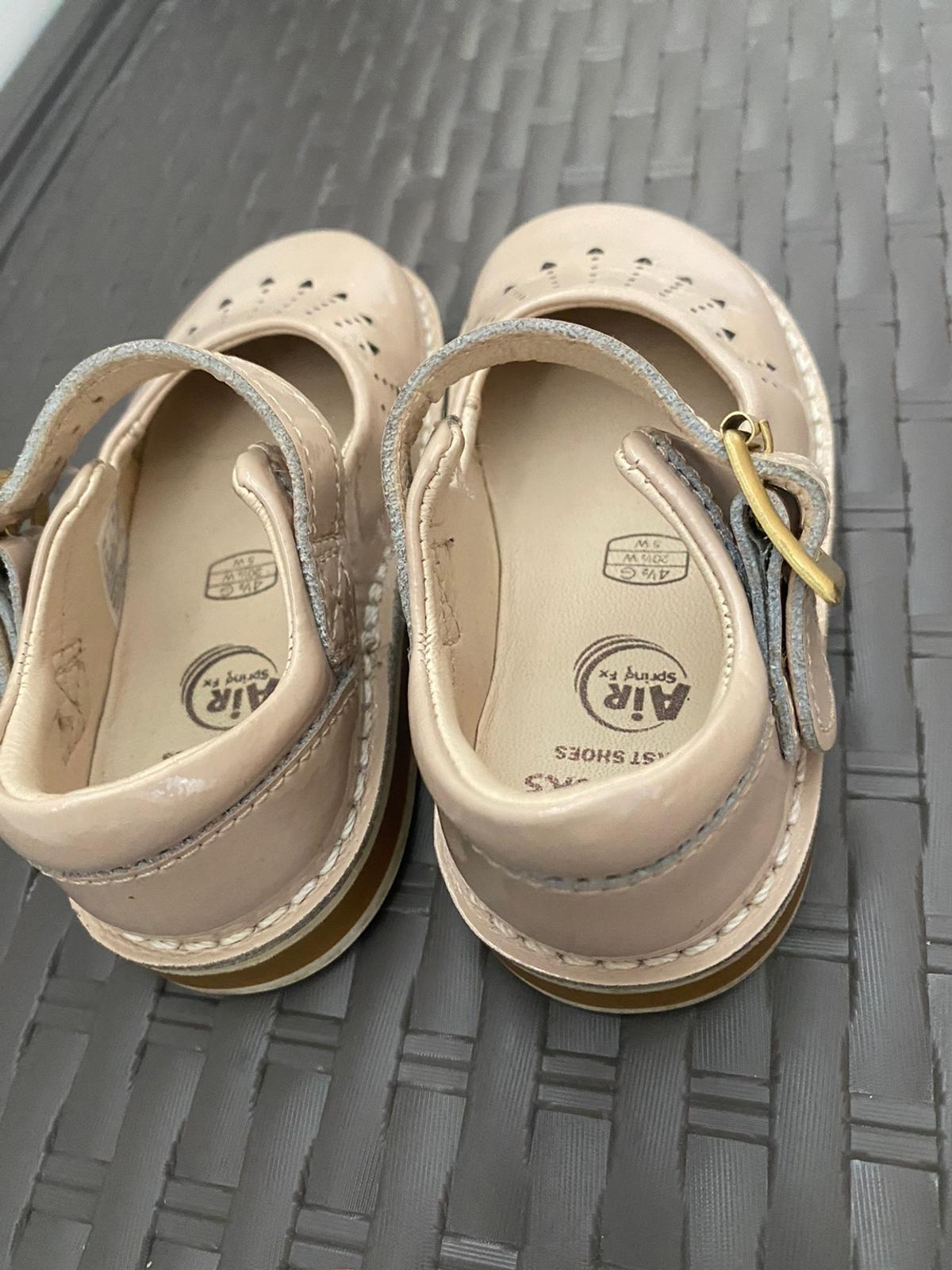 Clarks first walker shoes Air spring range 4.5G Very good used condition Beige/ nude on colour buckle fasten Pet free smoke free home Collection LE36SA