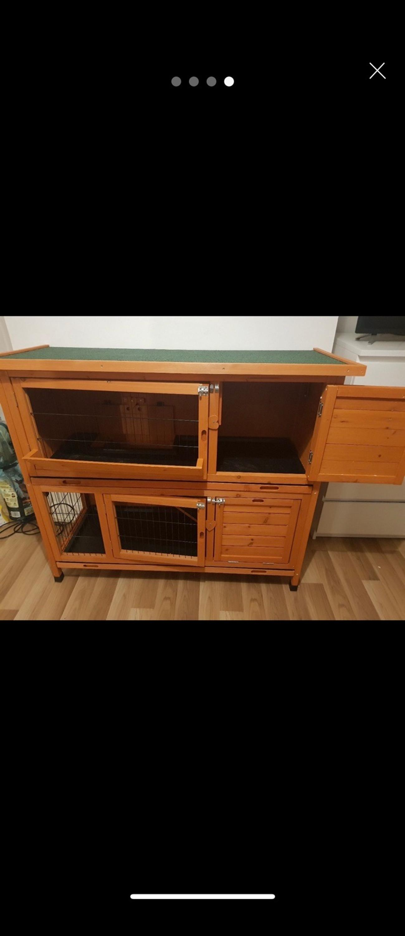 Selling my rabbit hutch no longer need it used for 1 week. Size around 4 ft wide. Price £80
