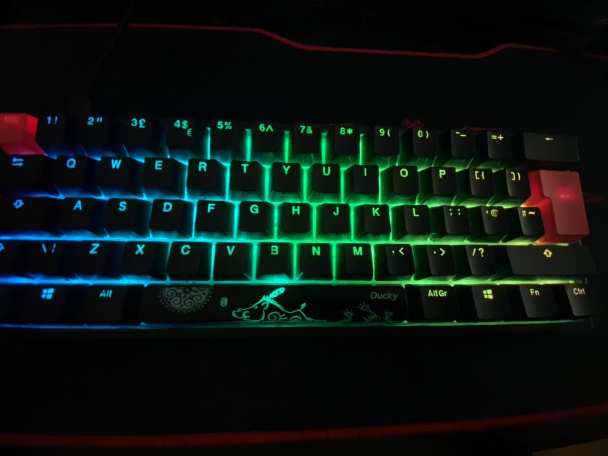 used for a few months, no scratches, perfect condition // Ducky One2 Mini RGB Backlit USB Mechanical Keyboard with Cherry MX Speed Silver Switches