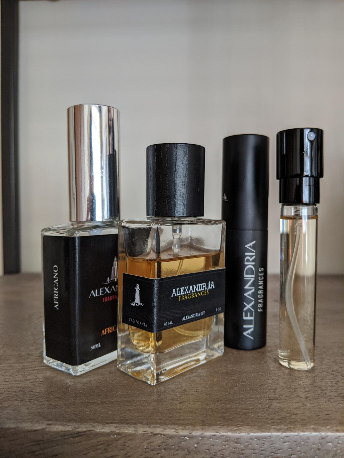 Alexandria Fragrances bundle including:  Alexandria 007 (inspired by Kilian Intoxicated) Africano (inspired by Byredo Bal d'Afrique) Italian Caramel (Xerjoff Italica) Condition is Used, see pictures about remaining amount. Dispatched with Royal Mail 2nd Class.
