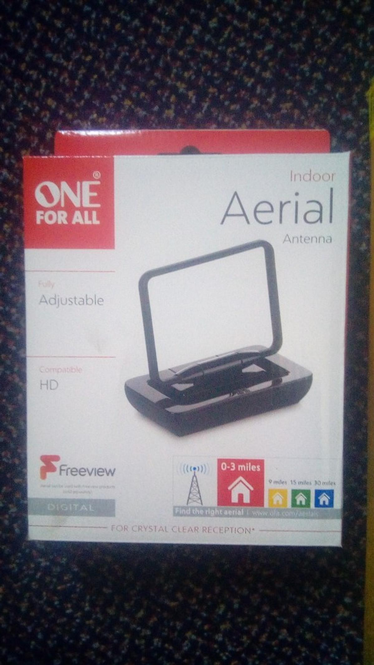 brand new 19 inch HD ready TV made by Bush and one for all TV aerial brand new in box. As seen in Argos 99.99.