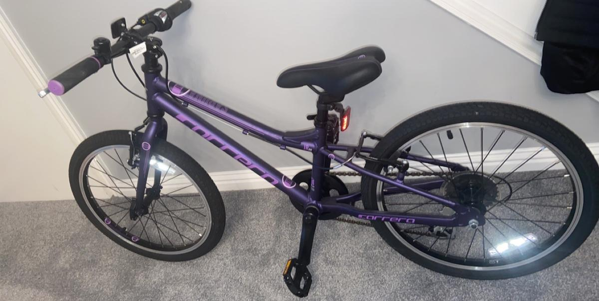Brand new correra bike paid £260 Christmas just gone from Halfords so still in the shop, my little girl is to big for it, so we are buying a new one, it's 20inch 6-9 year olds.