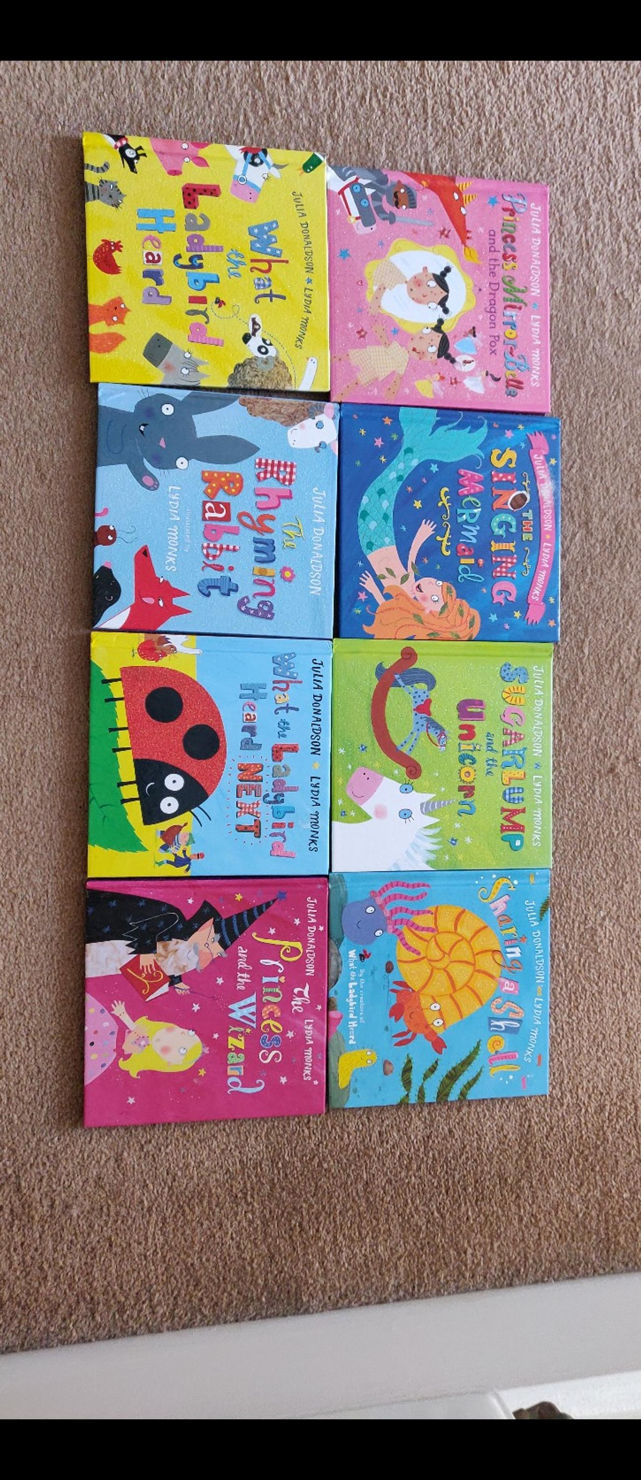 A collection of 8 books, with a bed time book case. hard bound. As good as New. Will be posted using Royal mail 2nd class standard delivery. sold as seen.