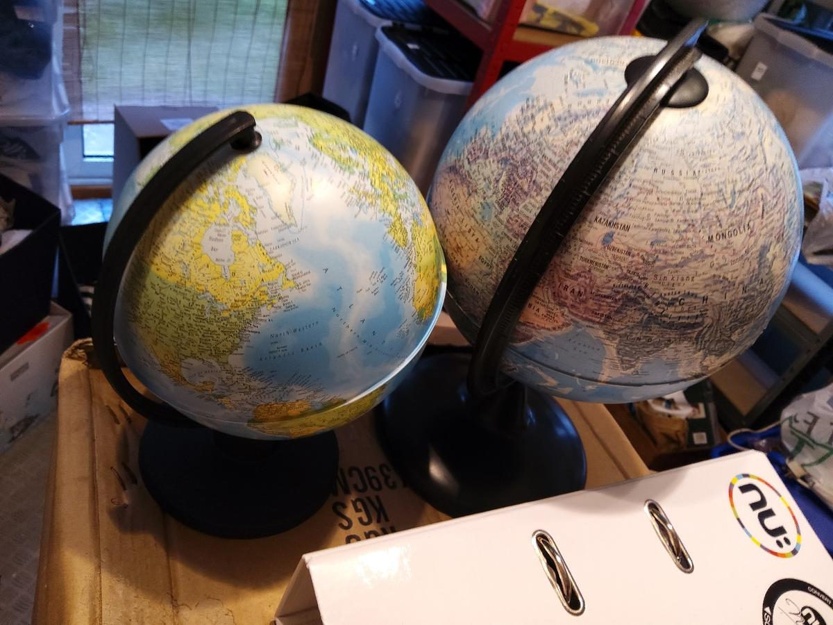 Two Globes in good condition. collection from sidcup Da15.