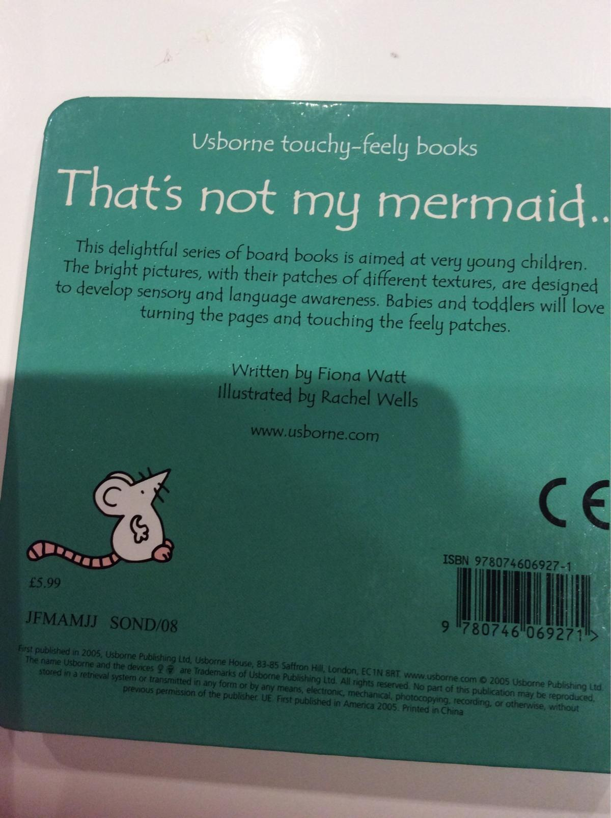 That's Not My Mermaid... Usborne Touchy-Feely Books New Cost £5.99 Excellent Condition (Happy to post)