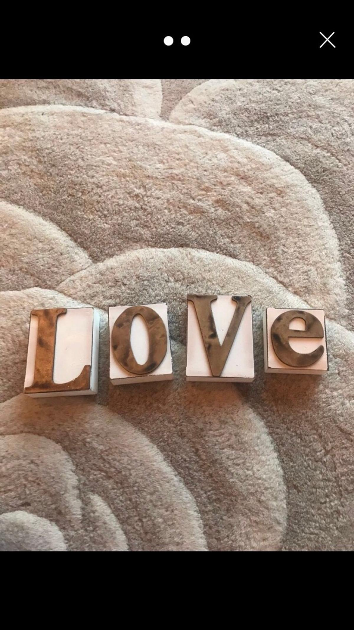 L O V E stand up letters. Only selling due to a change in decor.  Smoke free and pet free home 🏡 . Collection only please 🚗. Check out my page, I have a large variety of items for sale. Reasonable offers considered❓ No time wasters please 🤚