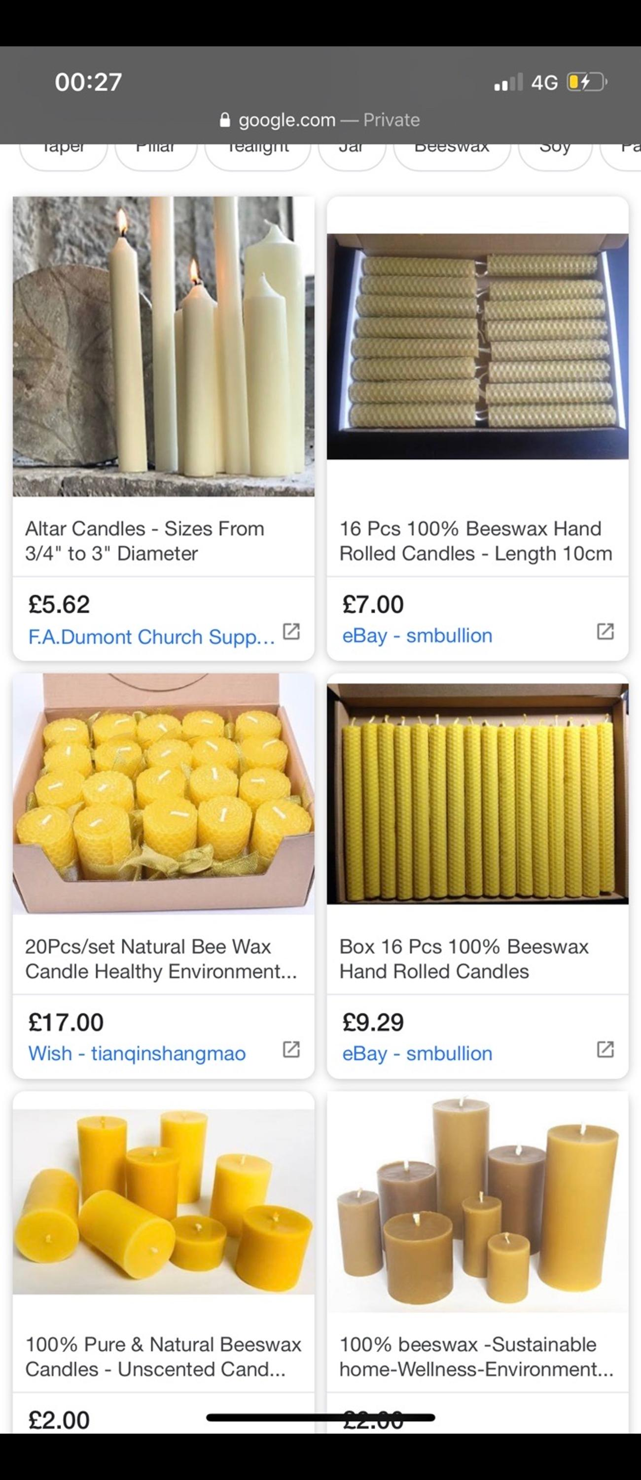 I have Approx 60 beeswax candles 20 candles £12 All 60 for £30