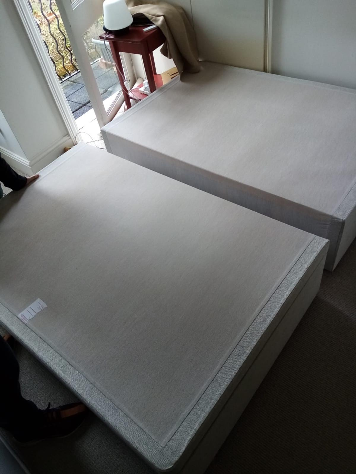 King size duvan bed ,mattress and headboard not included with delivery for extra 10 pounds within MK