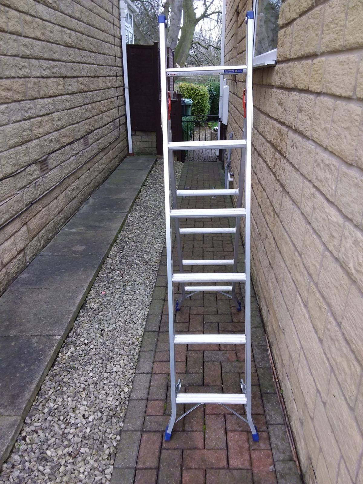 3 way ladder aluminium  Collection Only