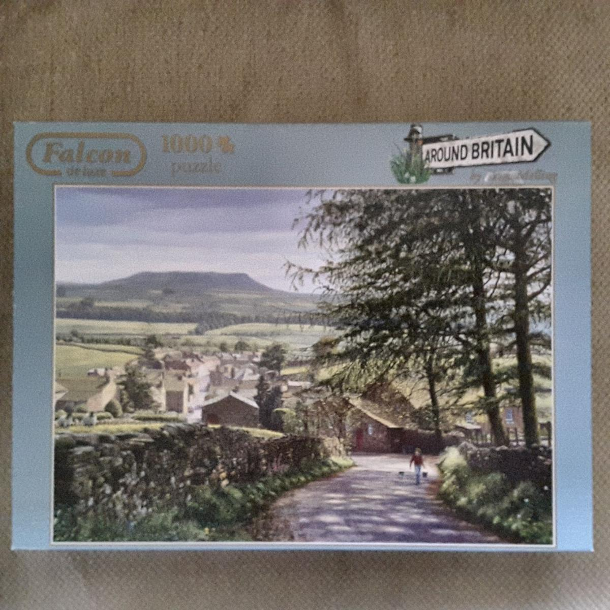 "Falcon DeLuxe 1000 piece Jigsaw Puzzles ""Around Britain"" series Take your pick. Collection from Walmley."