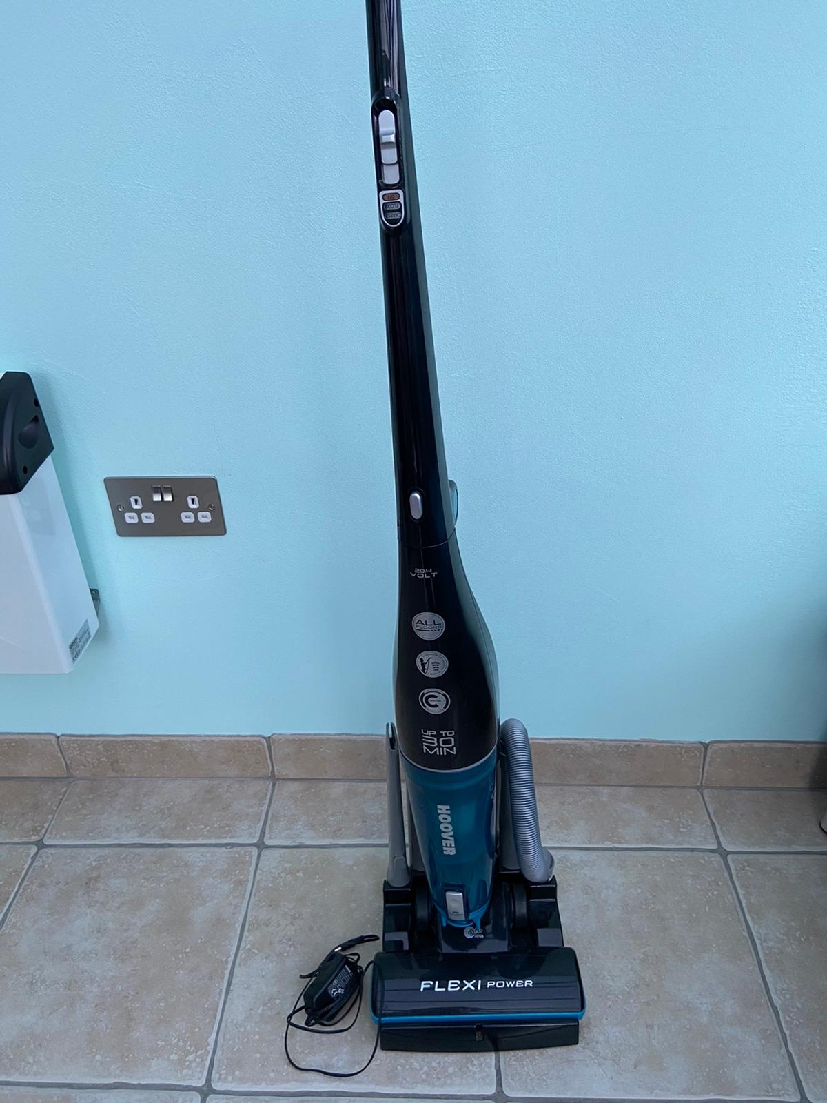 Flexi Power rechargeable Hoover. Suitable for all floors and up to 30 minutes running time. Includes stand, all utensils and charging plug (no instruction manual). Excellent condition