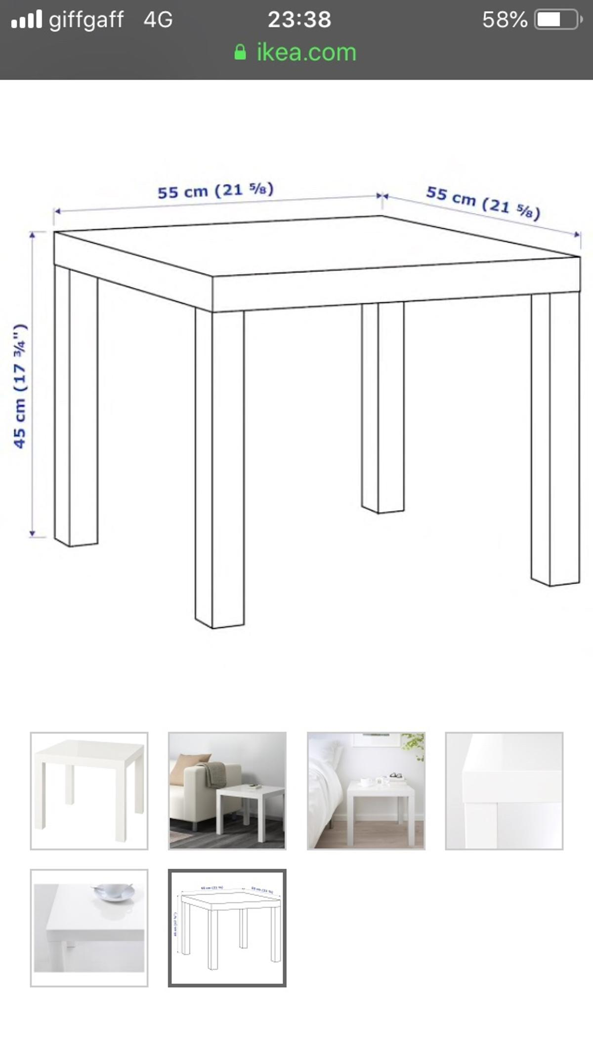 2 White tables used as a lamp table & a coffee table, lightweight easy to carry, great condition, WV14 Bilston area
