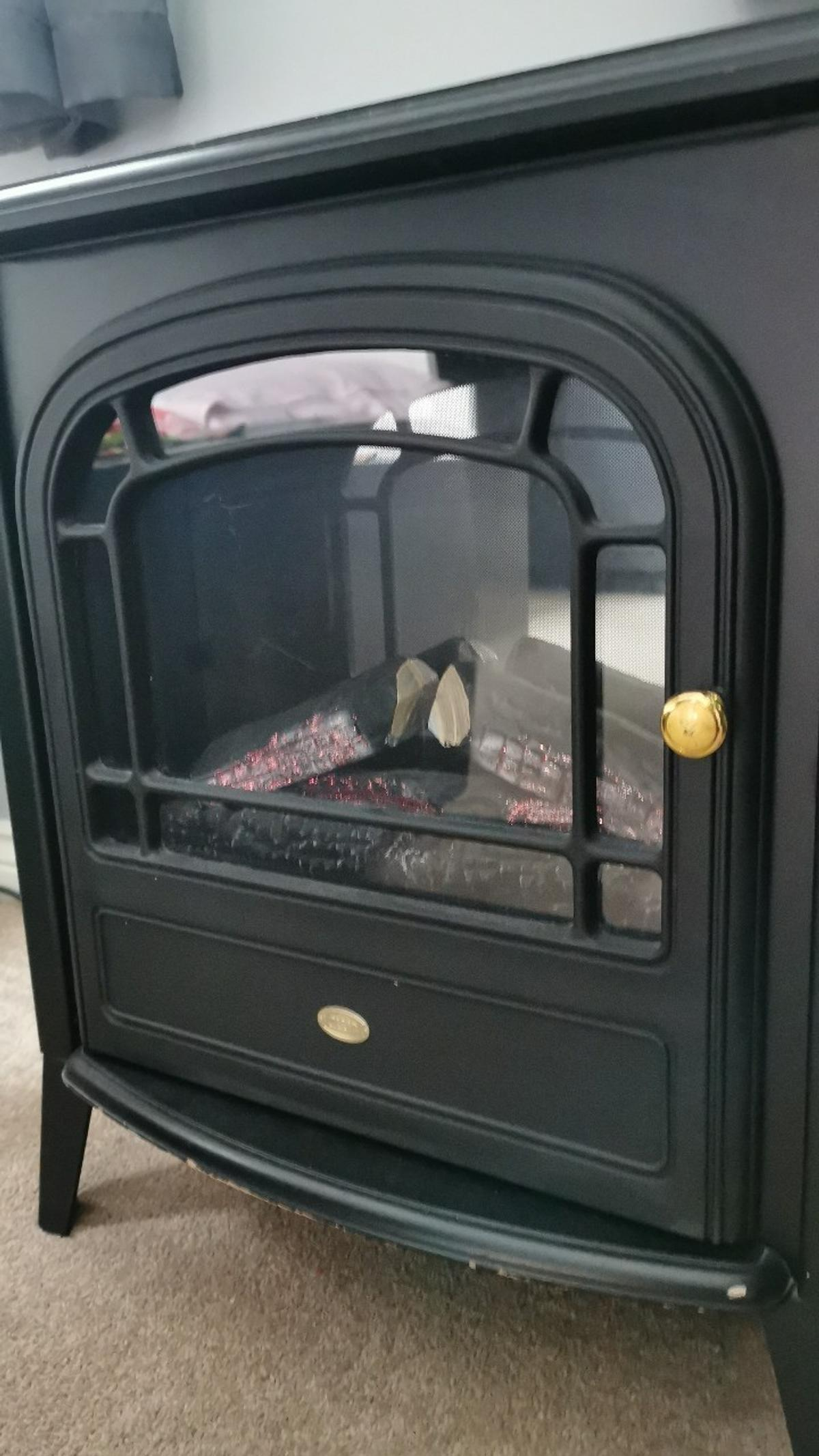 Electric Stove Heater with Log Burner Flame Effect