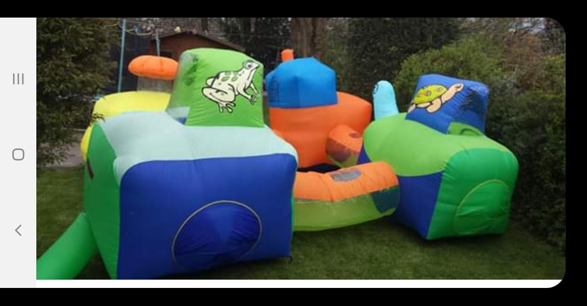 Inflatable tunnels for garden . Comes with electric air blower. Very good Condition. only used couple of times. See photos . Any questions please ask.
