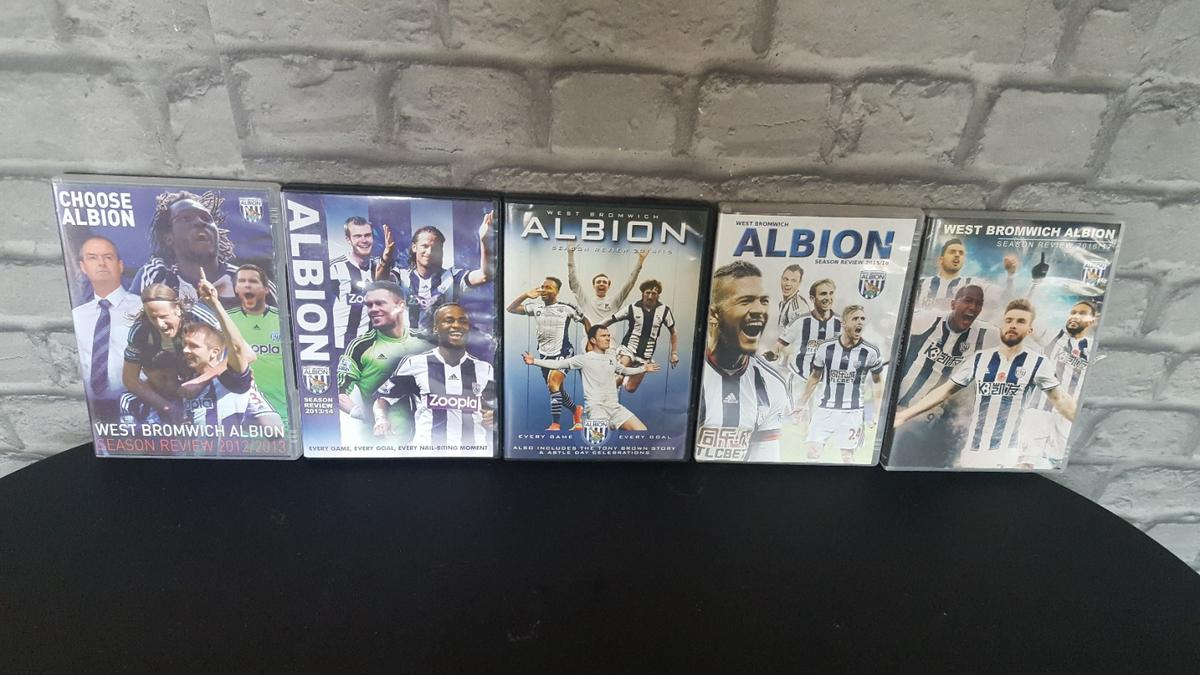 5 West bromwich albion dvds season 2012 all the way through to 2017