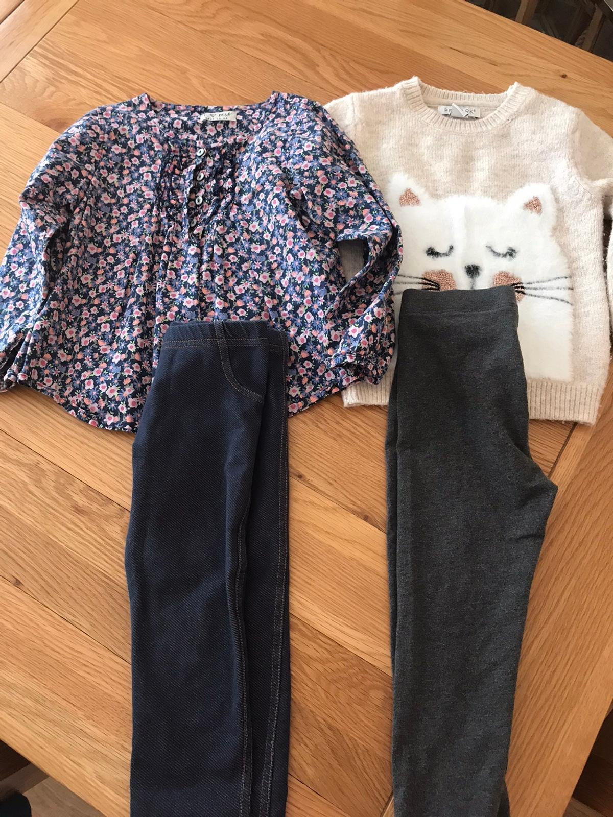 Just having a sort out free to collect from Caterham CR3 can leave in porch so no need for contact. Top is next, jumper is primark, Leggings are mothercare and next.