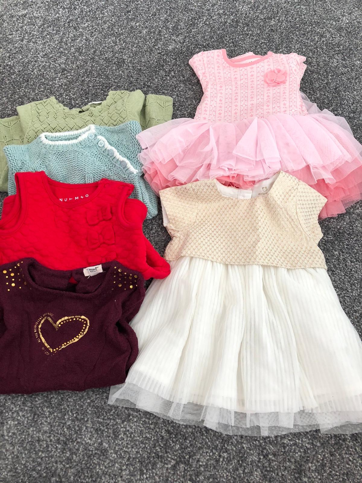 21 items Dresses Tops/jumpers Trousers and top sets Cardigans Baby grows  Riverisland,next,marks and Spencer's All excellent condition