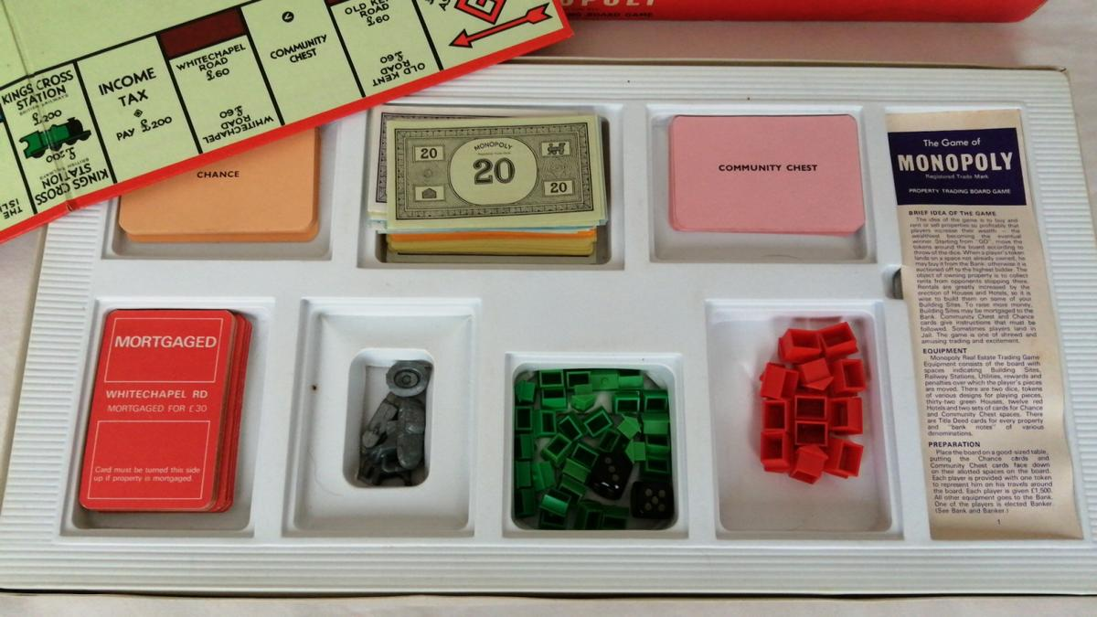 original monopoly has all the pieces and in great condition for age