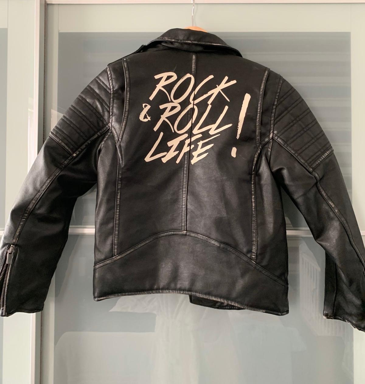 Boys Zara distressed biker jacket. Size 9. Bought for £50. Mint condition, only worn once for an event/occasion.