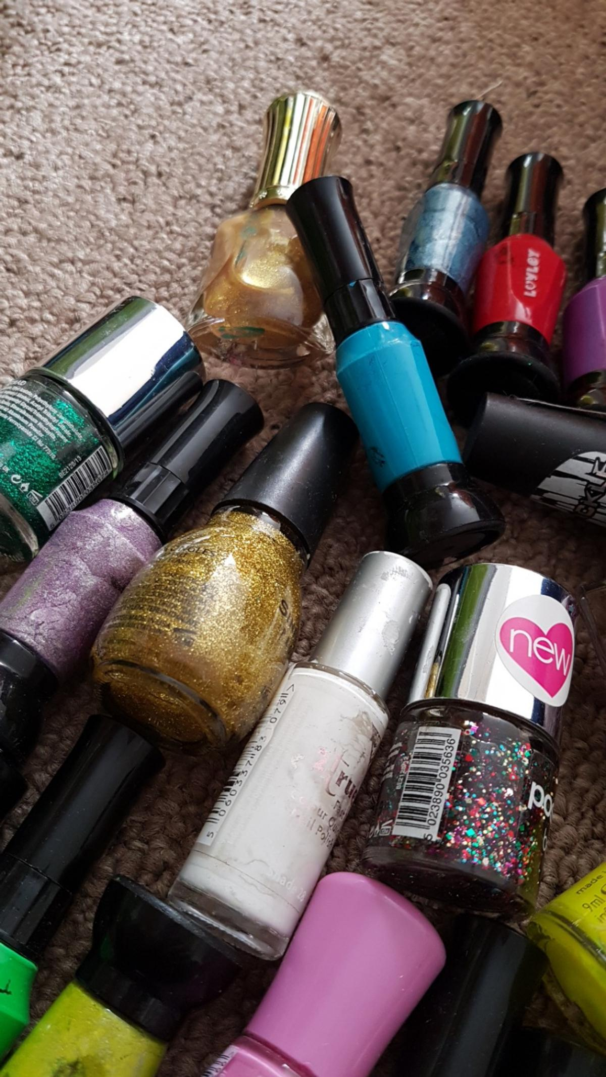 Some used but all still in great condition glitter , sheen, grit effect ect ....