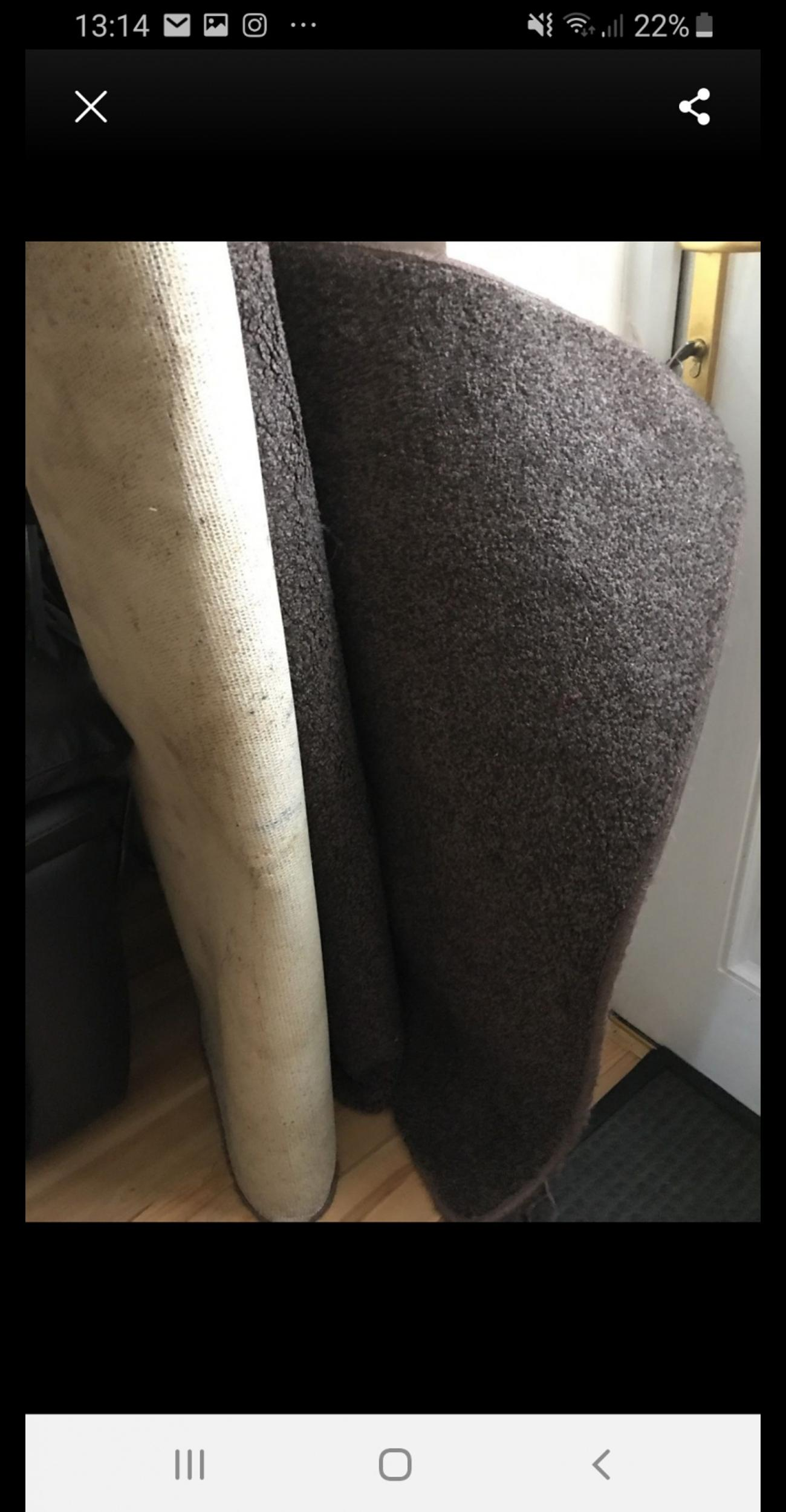 good condition brown rug. collection only