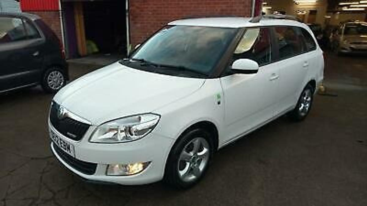 Here I have for sale a VERY Economical Skoda Fabia 1.2 Diesel Estate thats FREE Tax and VERY Economical, I have taxed it to use (FREE) and just serviced it inc Cambelt Kit and Water Pump so ready to go Fuel Economy Fuel consumption (urban) 68.9 mpg Fuel consumption (extra urban) 94.2 mpg Fuel consumption (combined) 83.1 mpg Performance 0 - 60 mph 13.8 seconds Top speed 107 mph Cylinders 3 Valves 12 Engine power 74 bhp Engine torque 132.77 lbs/ft Driver Convenience 8 Speakers Radio Swing 2DIN with Single CD (Can Play MP3 Recordings) and 3.5 mm AUX Socket Side and Rear Windows in Tinted Glass Cruise Control Electric Front Windows Manual Air - Conditioning Trip Computer Split Folding Rear Seats (60/40) Heated Rear Window Height and Reach Adjustable Steering Wheel Height Adjustable Driver and Passenger Seats 1.5 - Litre Drinks Holder in Front Door Panels Upholstery - Cloth Safety Drivers Airbag Driver and Front Passenger Side Airbags Immobiliser Seat Belt Tensioners and Height Adjustment (Front) Tyre Pressure Monitor (TPM) Front and Rear Head Restraints Power Steering Front Passenger Airbag with De - Activation Switch Preparation for ISOFIX Hill Hold Control (HHC) Remote Central Locking Alarm with Tilt Sensor Anti - Lock Braking System (ABS) Centre Rear Seat Belt Electronic Stabilisation Programme (ESP) with (HBA) Front Fog Lights Tyre Repair Kit (No Spare Wheel) Traction Control System (ASR) Electronic Differential Lock (EDL) Exterior Features Black Roof Rails FOR ANY MORE HELP OR INFORMATION PLEASE CALL 01325 464759