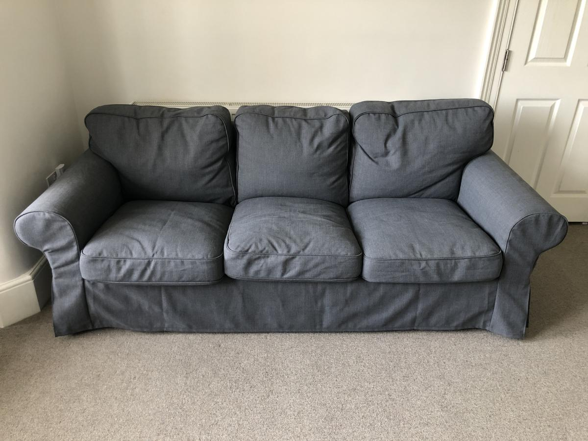 Ikea Ektorp 3 seat sofa in grey. New in late December and in as new condition. Collection only from Eltham SE9